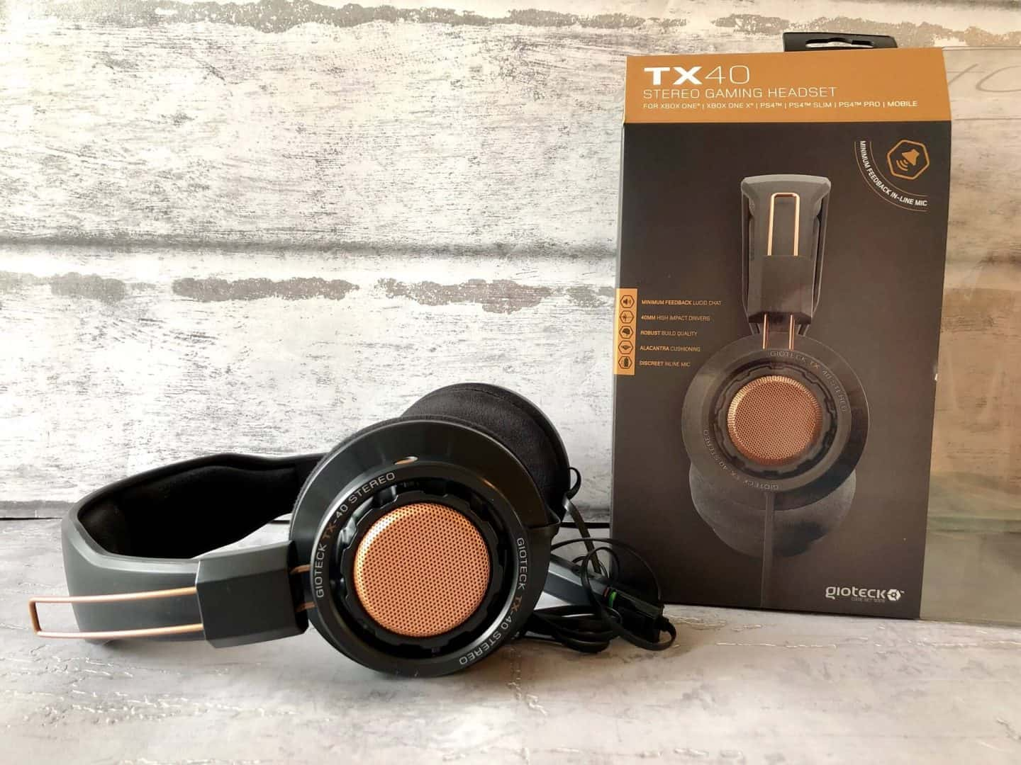 GioTeck TX-40 Xbox One, PS4, PC Headset