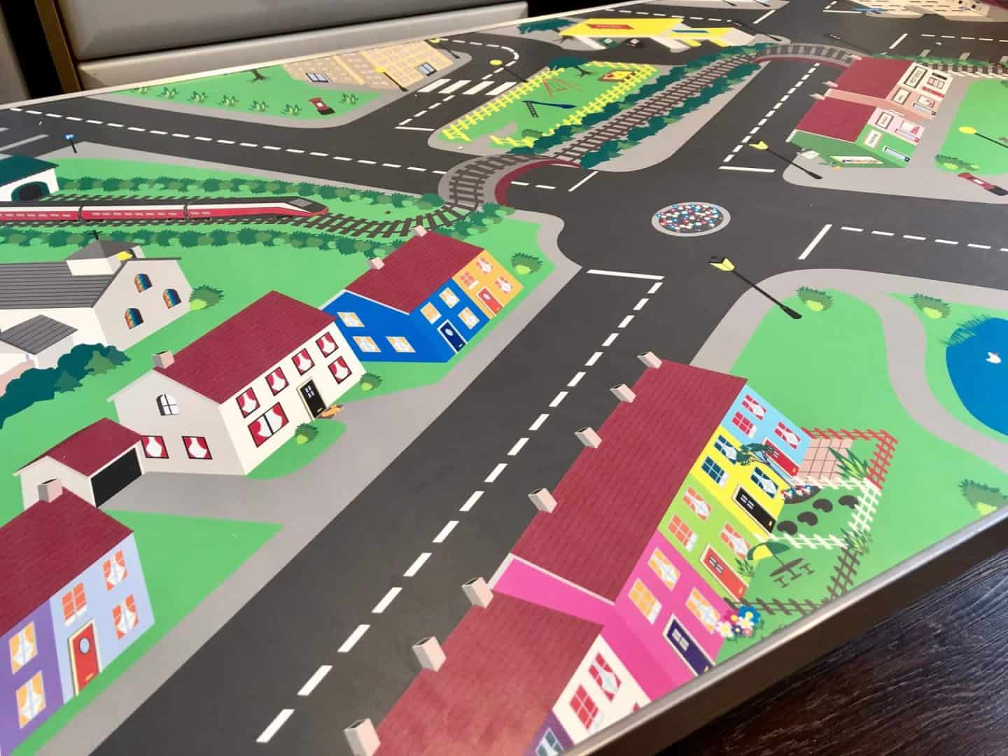 Town design on the activity table