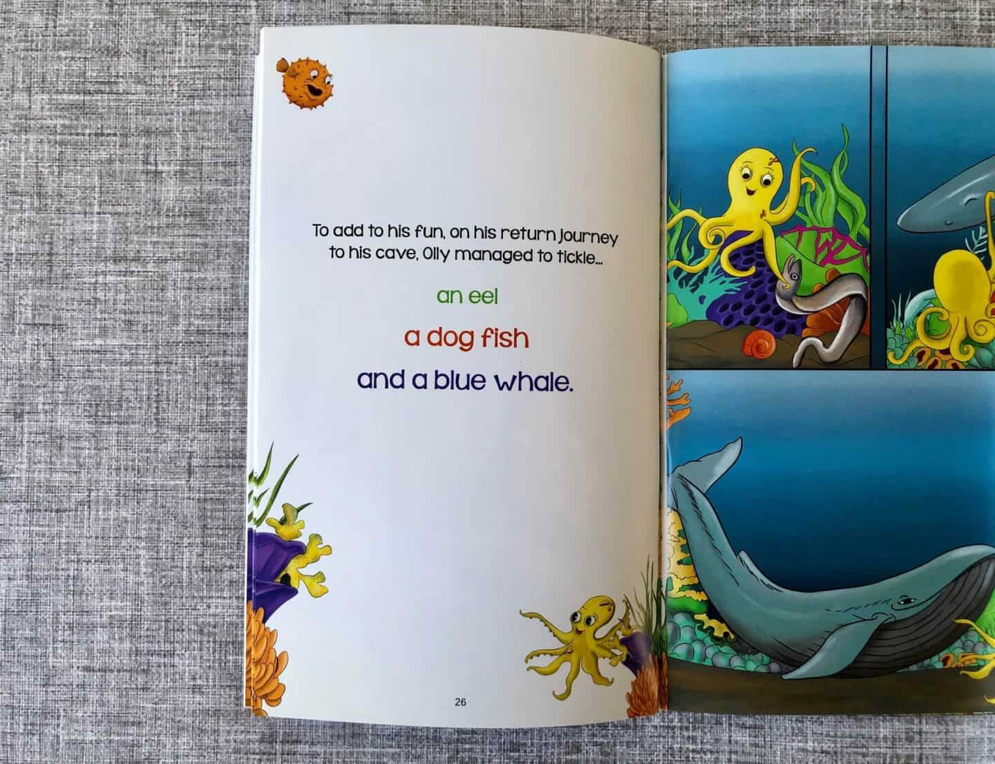 childrens book - olly octopus