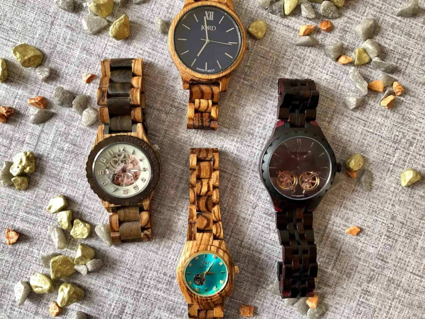 collection of JORD watches