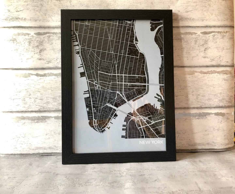 New-York-City-Map-Print