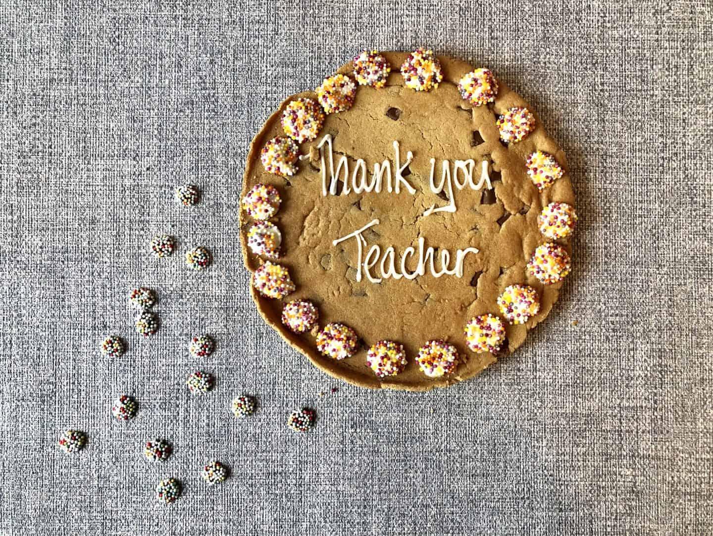 Thank You Teacher cookie