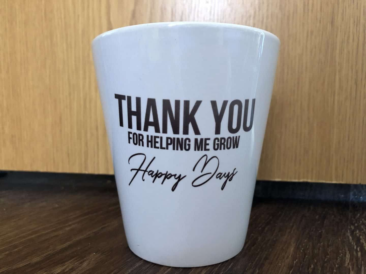 Thank you teacher gifts - personalised flower pot