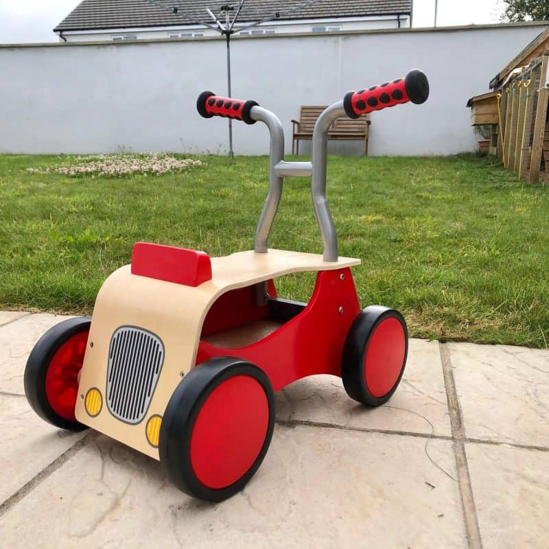 Little Red Rider from Hape - wooden walker and ride on