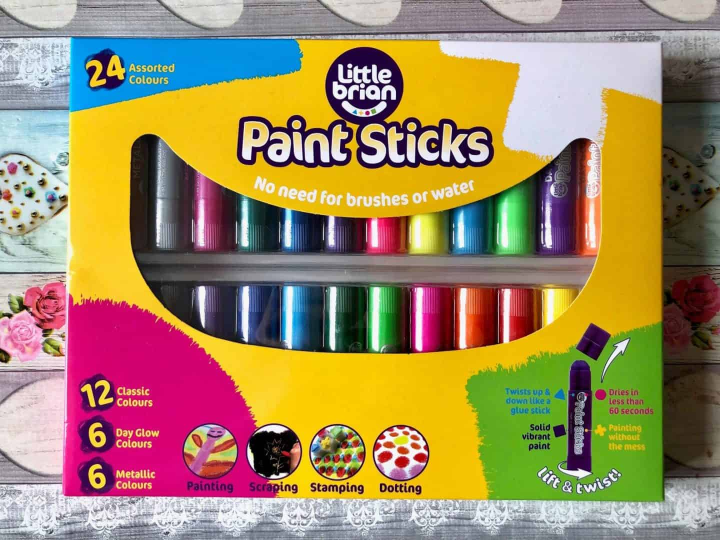 Paint Sticks Classic and Metallic - 24 Pack Assorted