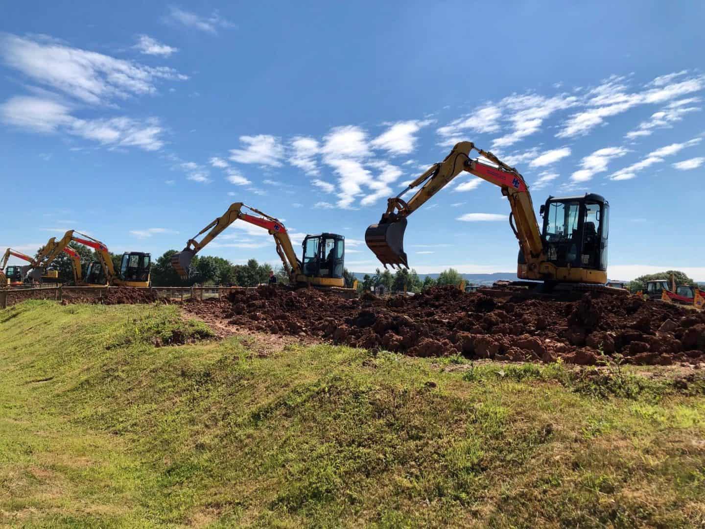 digging mud at diggerland