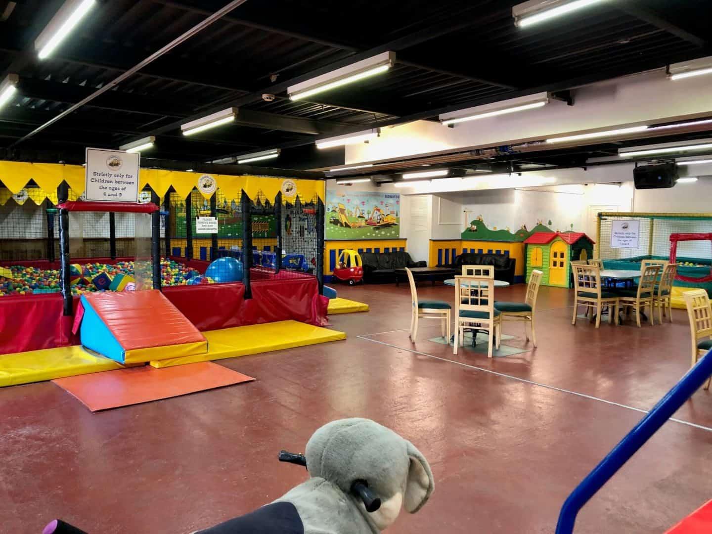 indoor area at diggerland devon