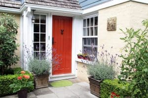 Choosing a bright colour such as red allows your home to stand out from other homes