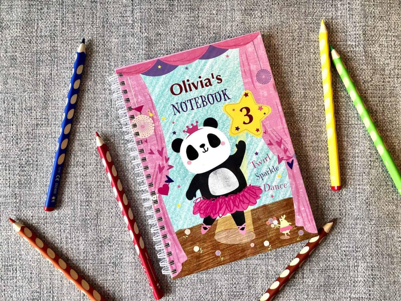 Panda Ballerina Kid's Notebook