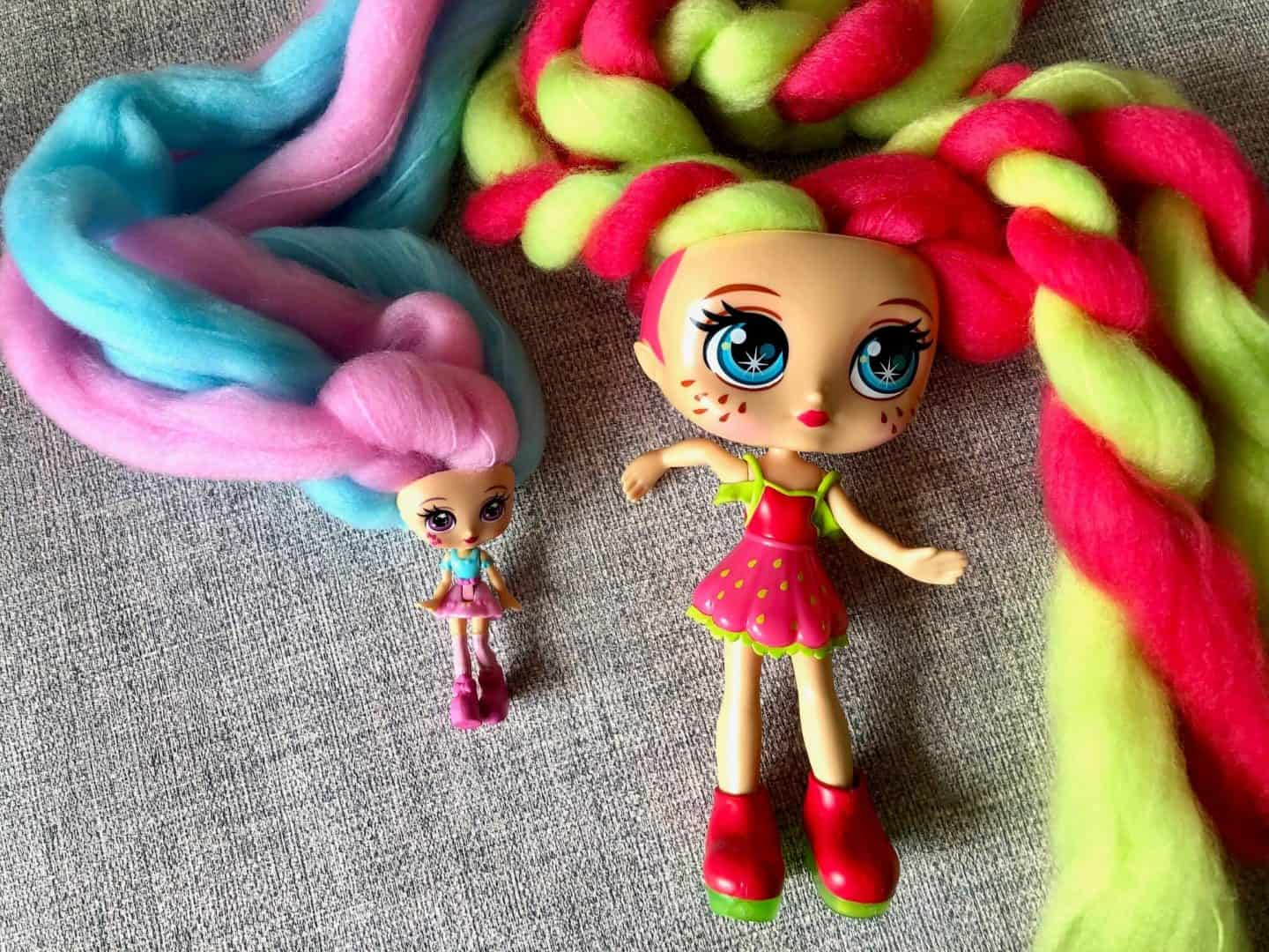 The Size difference in the Candylocks dolls