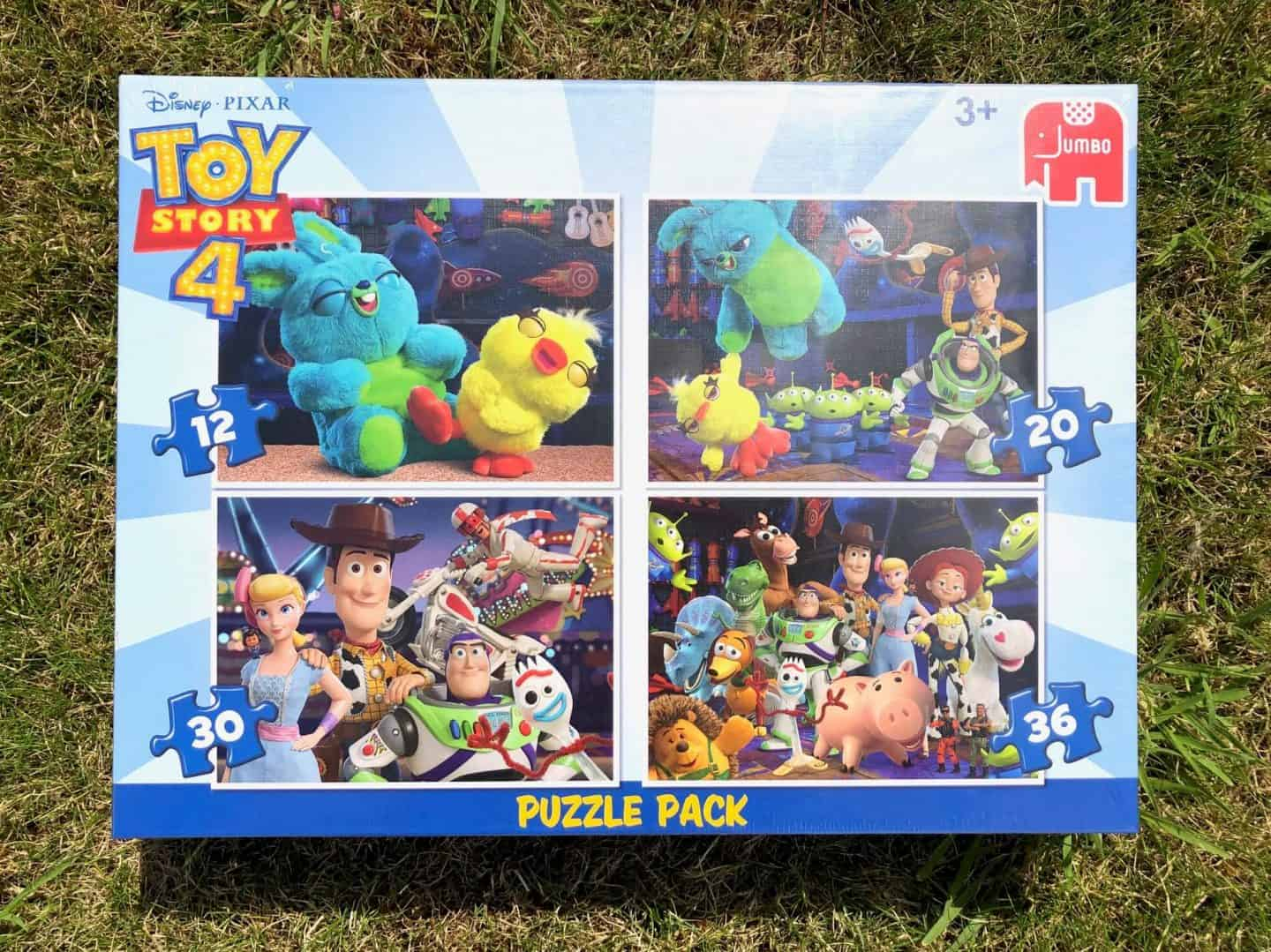 Toy Story 4 jigsaw puzzles from Jumbo. - 4 in 1 puzzle pack