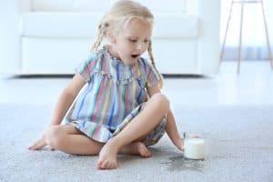 spilt milk on carpet