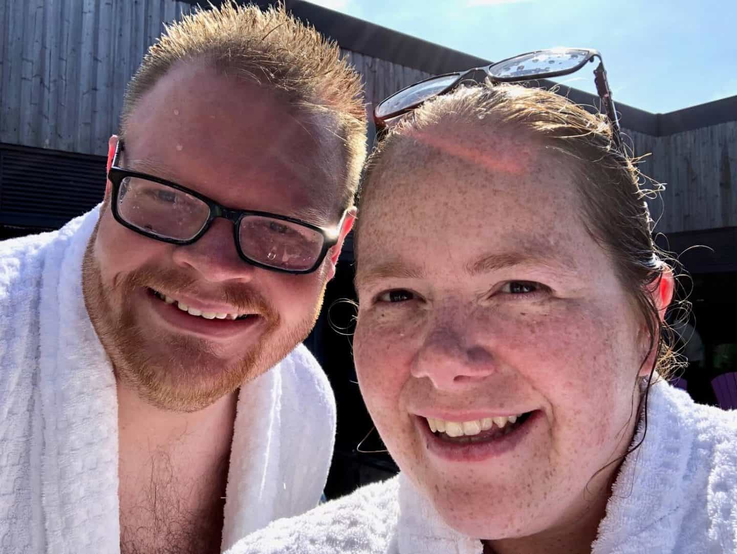 Mr B and I at The Well Spa Retreat