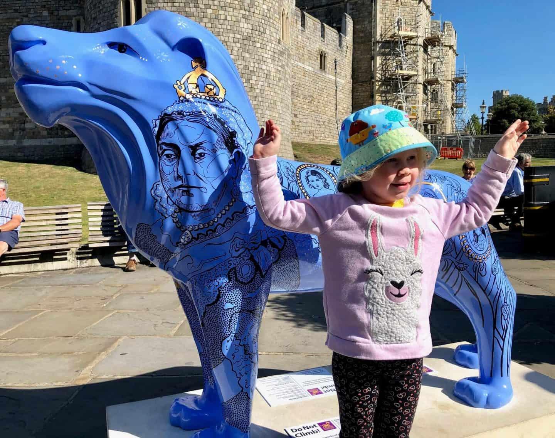 Lion at Windsor Castle