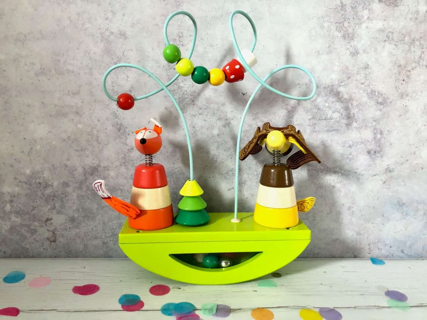 Looping Stacker and Rocker Toy
