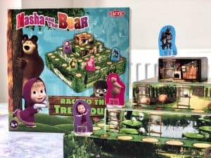 Masha and the Bear board game with pieces