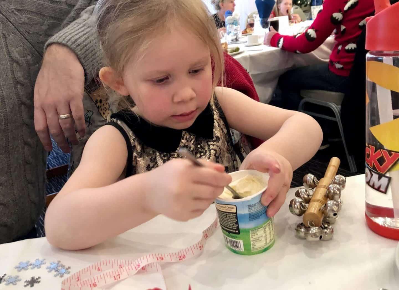 L eating her ice cream