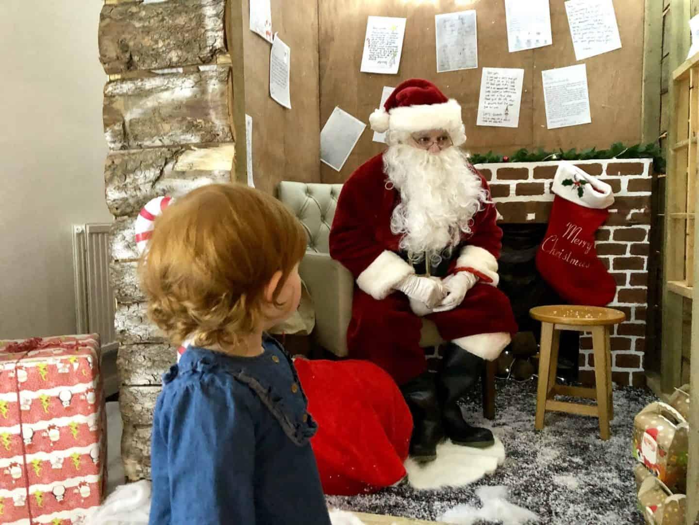 Little Dottie meeting Santa