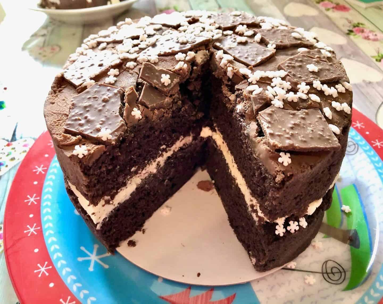 Peppermint Crisp Cake