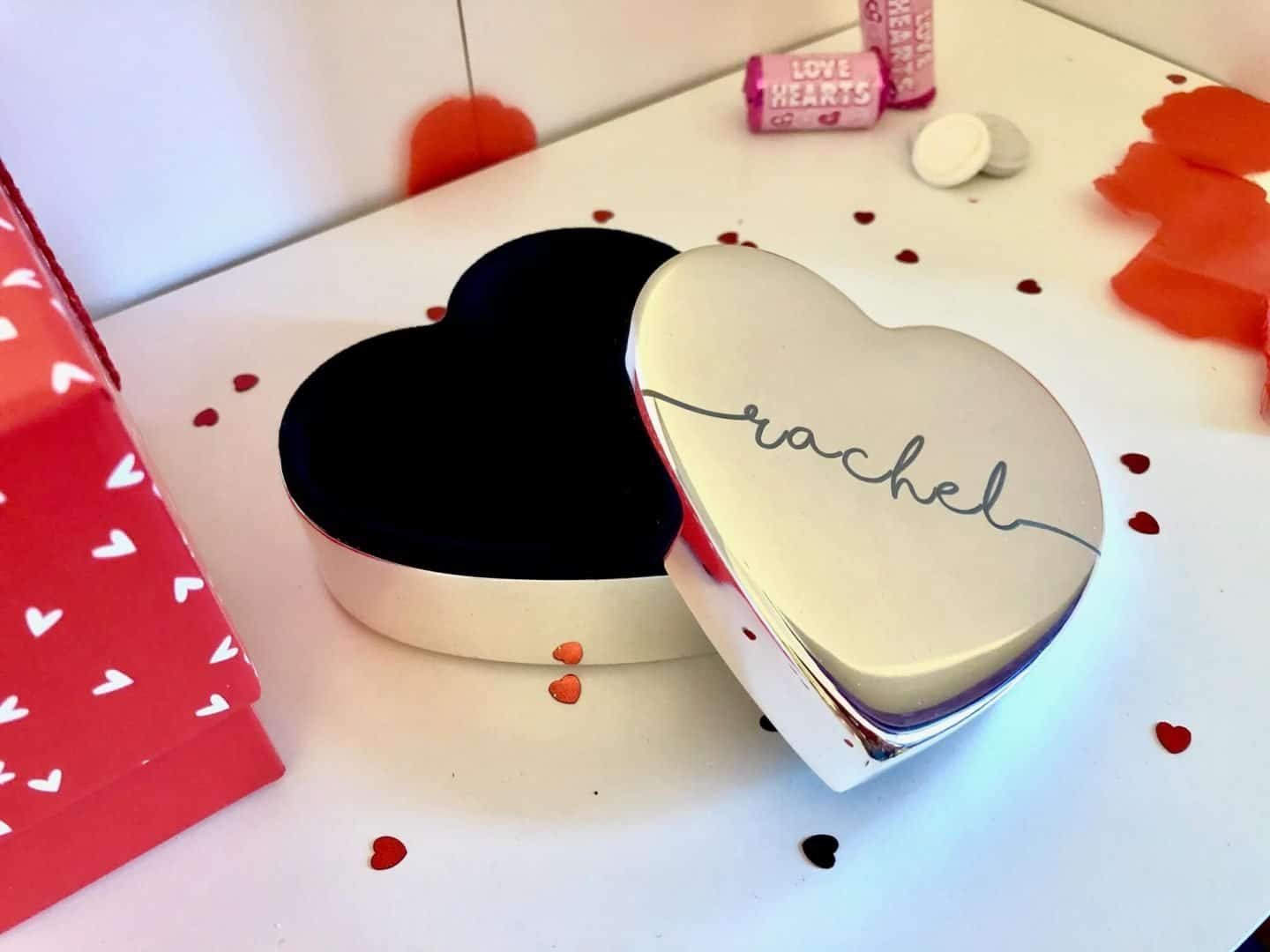 Valentine's Day Gift Guide - Personalised Heart Trinket Box