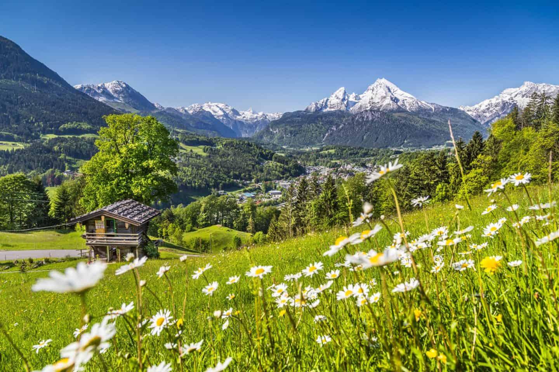 Idyllic mountain landscape in the Swizz Alps
