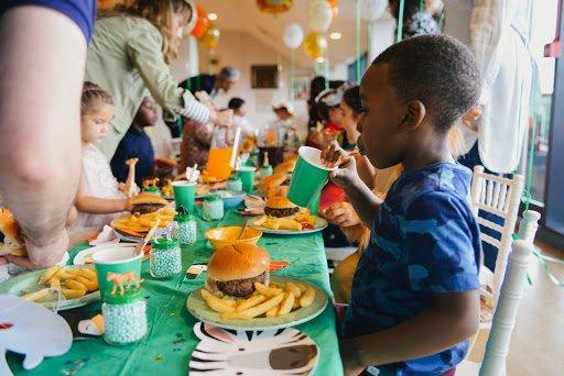 food at kid's party