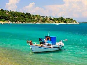 A little ship in Lefkada
