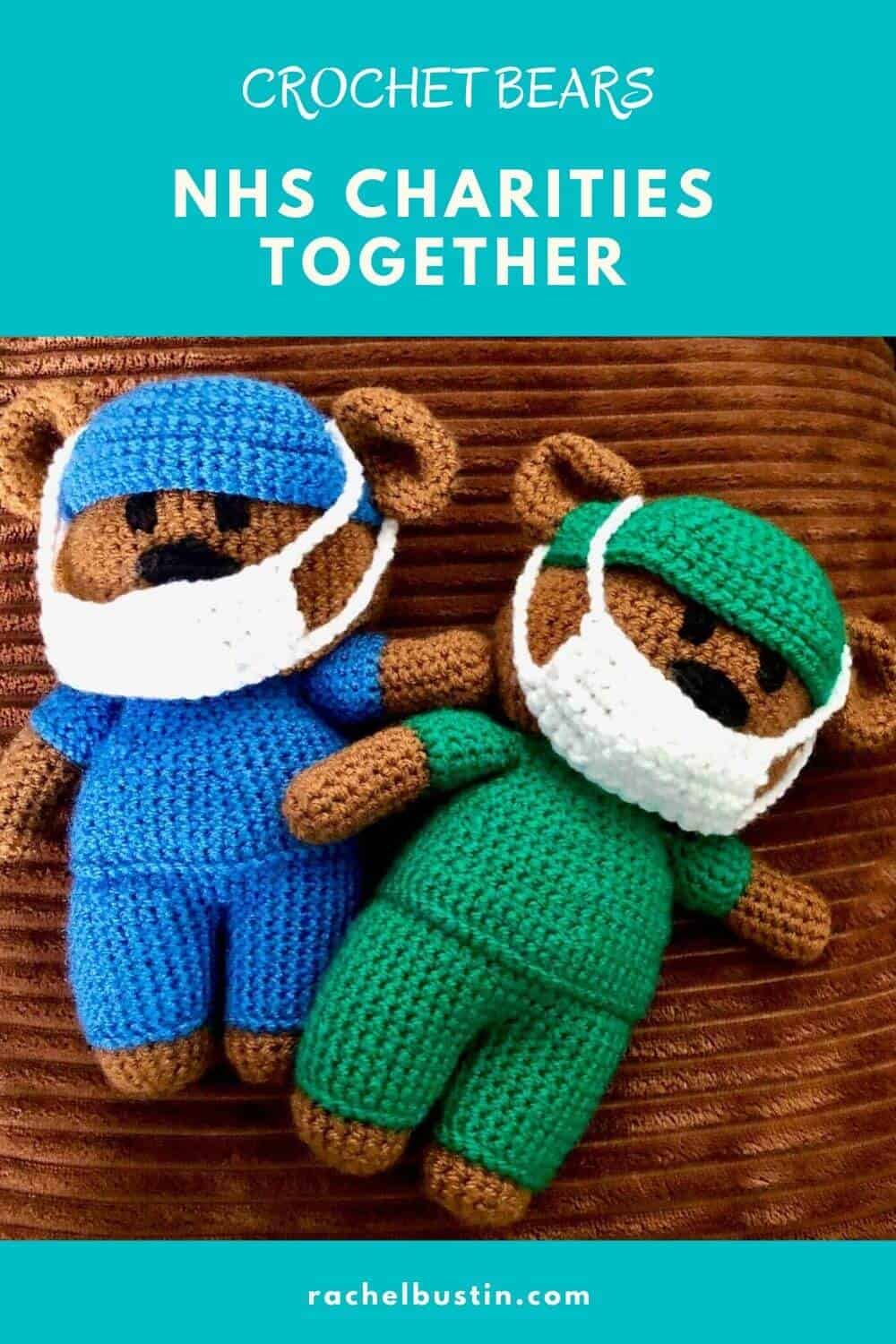 Crochet Bears - Doctor and Nurse - for NHS Charity #crochet #crocheting #woolbears #crochetbears