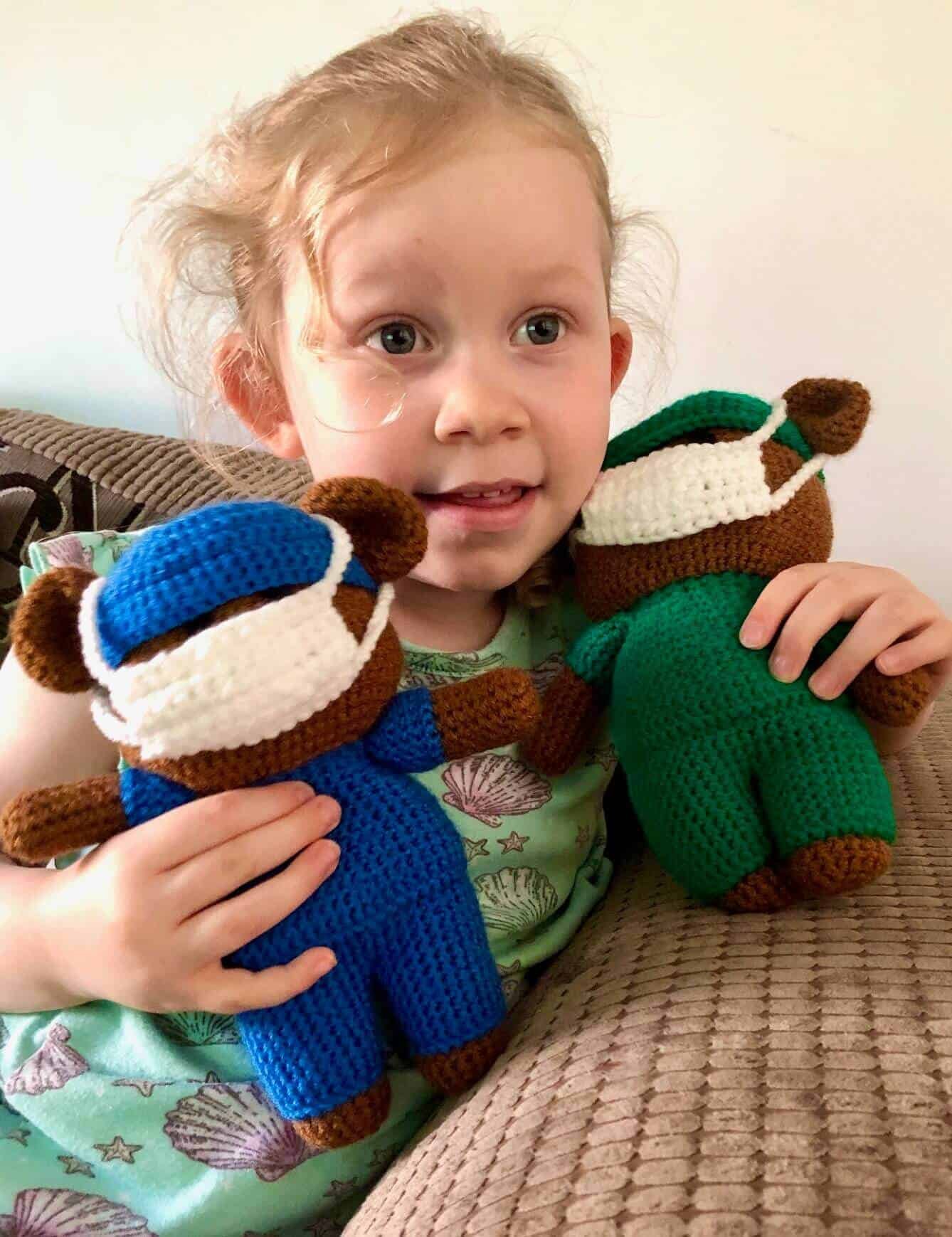 L with the Crochet Bears For NHS Charities Together