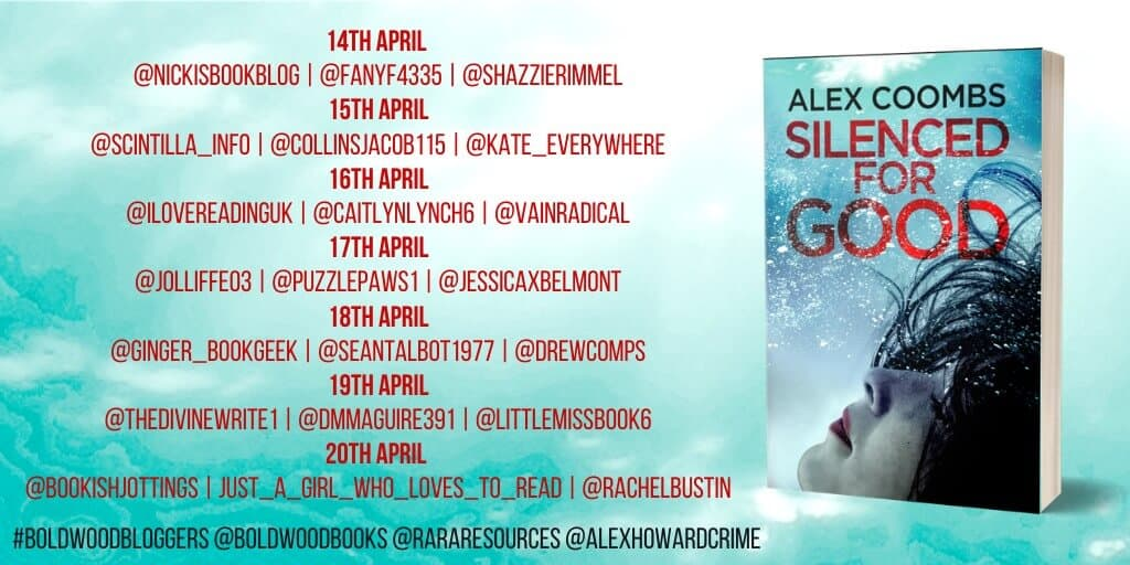Silenced for good by Alex Coombs - Blog Tour Banner