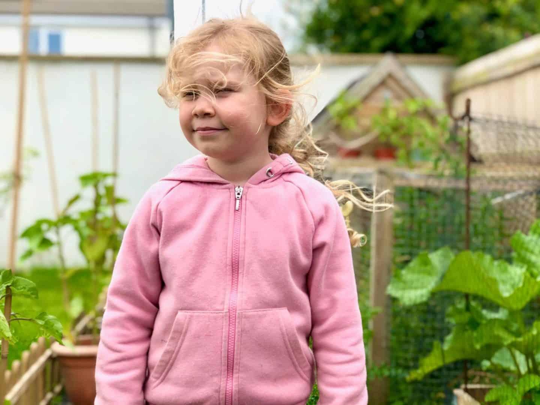 L in the garden - family update june 2020