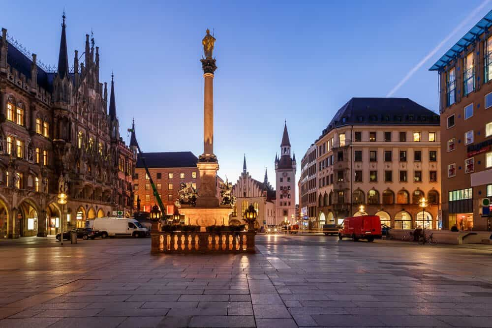Old Town Hall and Marienplatz, Munich, Bavaria, Germany