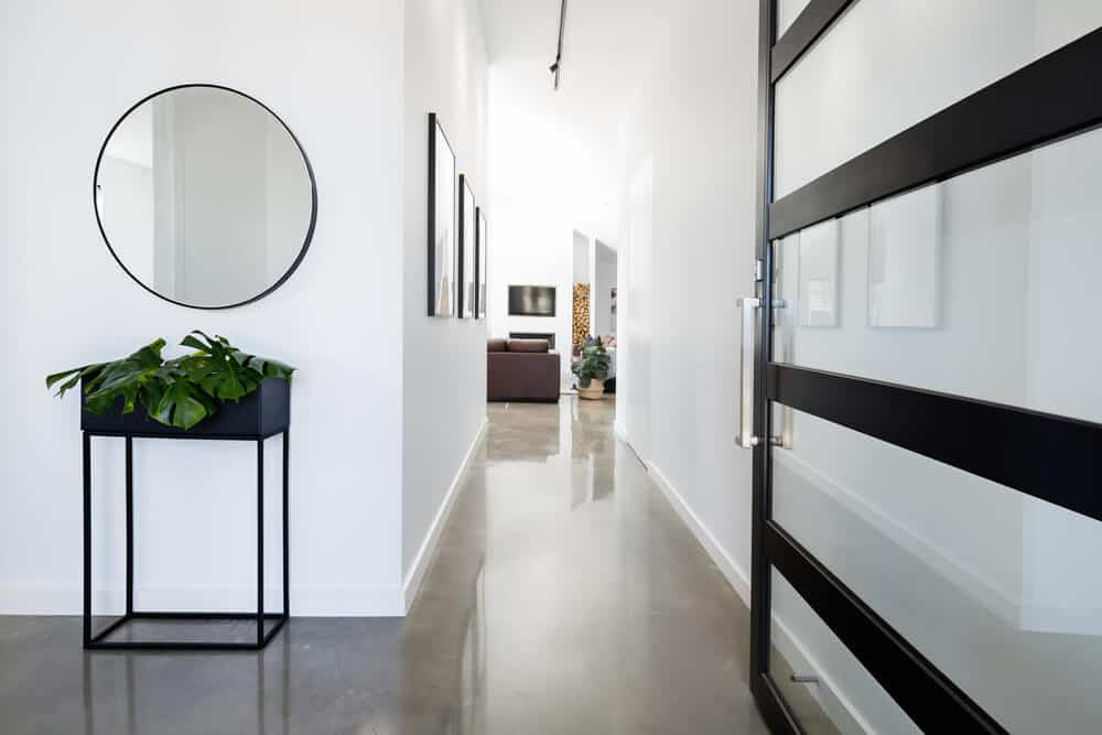 How Can I Make My Hallway Look Fantastic? - light walls and mirror