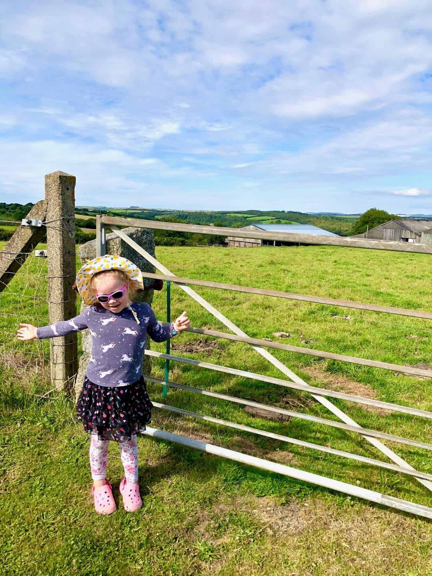 L by a field gate - family life update july 2020