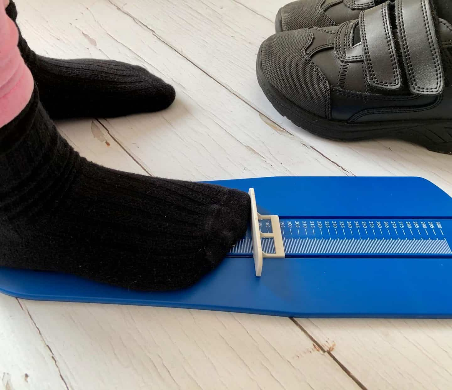 Measuring a Child's Shoe Size At Home