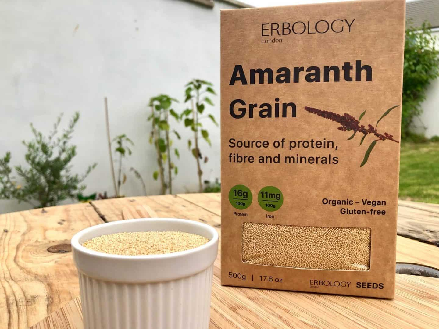 Amaranth Grain - source of protein, fibre and minerals. Vegan, organic and gluten-free