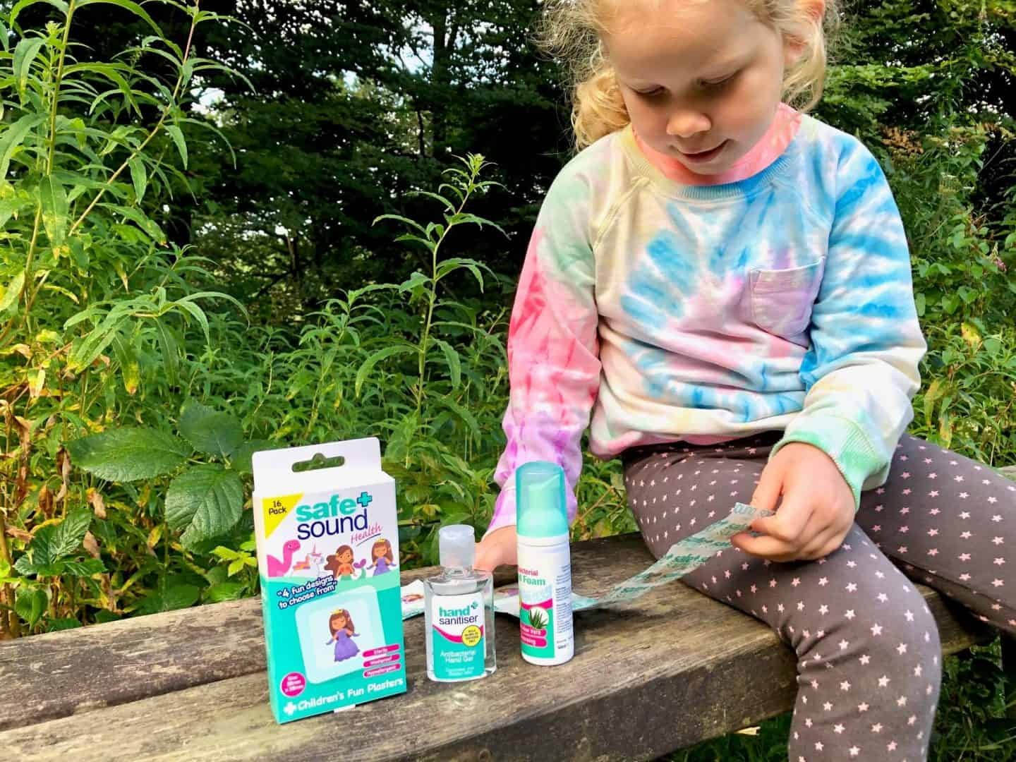 L-in-the-woods-with-the-Safe-and-Sound-Health-products-for-the-First-Aid-Kit