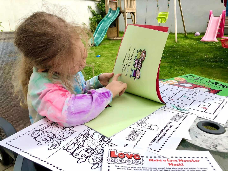 L reading the Love Monster books - Love Monster Children's Tv Series