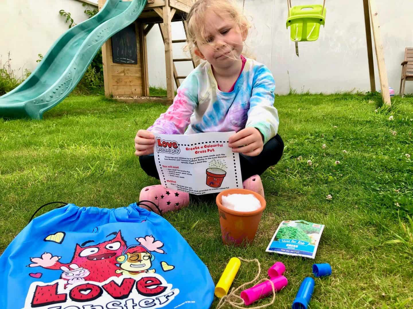 Love Monster - Children's TV Series Review - create a colourful cress pot activity