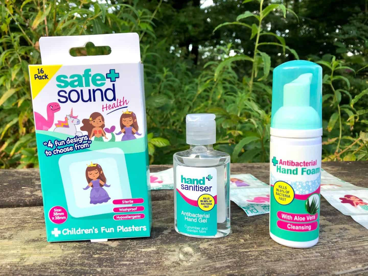 Safe-and-Sound-plasters-antibac-hand-gel-and-hand-foam