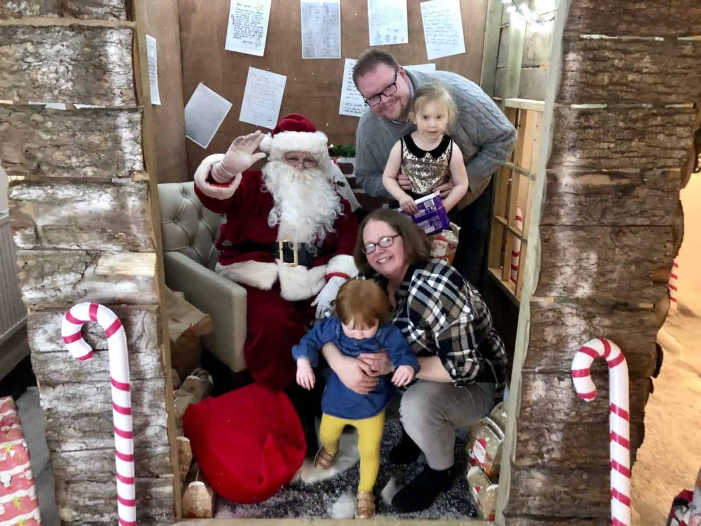 All of us in Santa's Grotto at China Fleet, Saltash