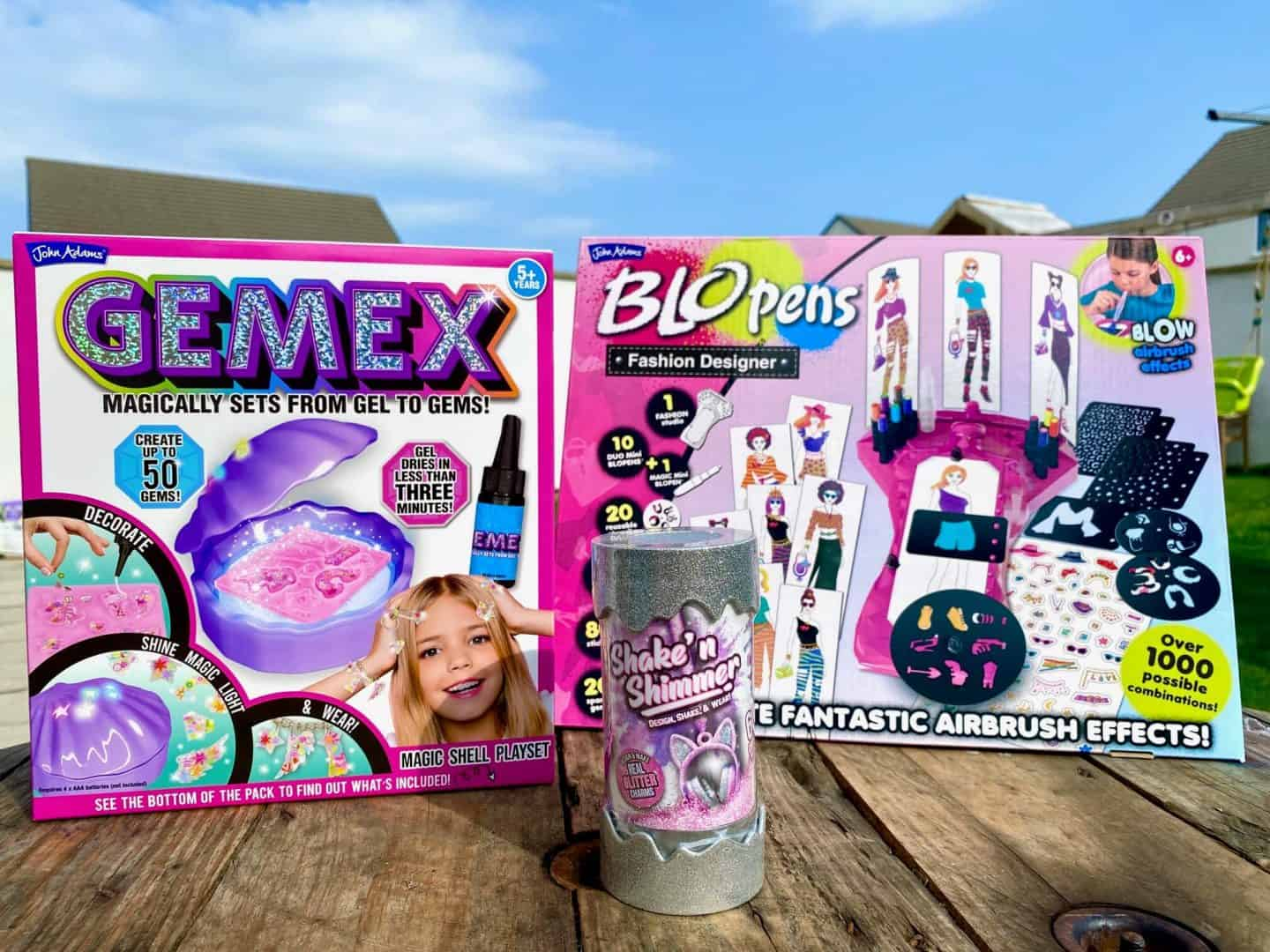 Fashion Inspired Toys From John Adams - BLOPENS Fashion Designer, Gemex Shell Playset and Shake 'n' Shimmer - Review