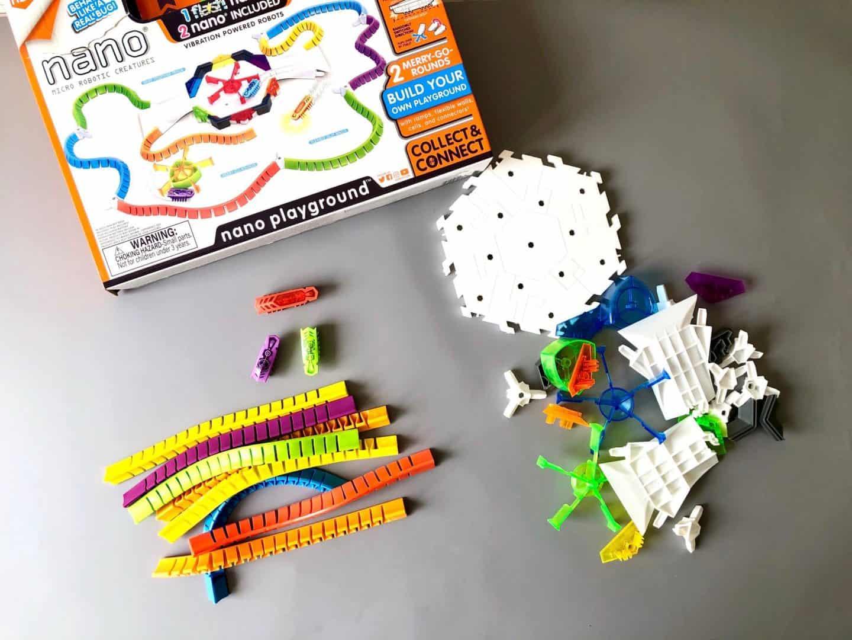HEXBUG nano Flash Playground Set - Review - all the pieces