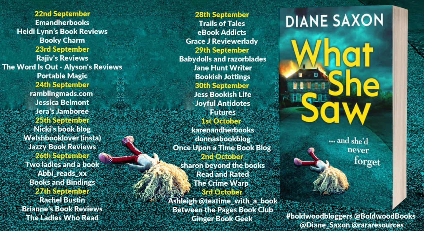 What She Saw by Diane Saxon - Book Review