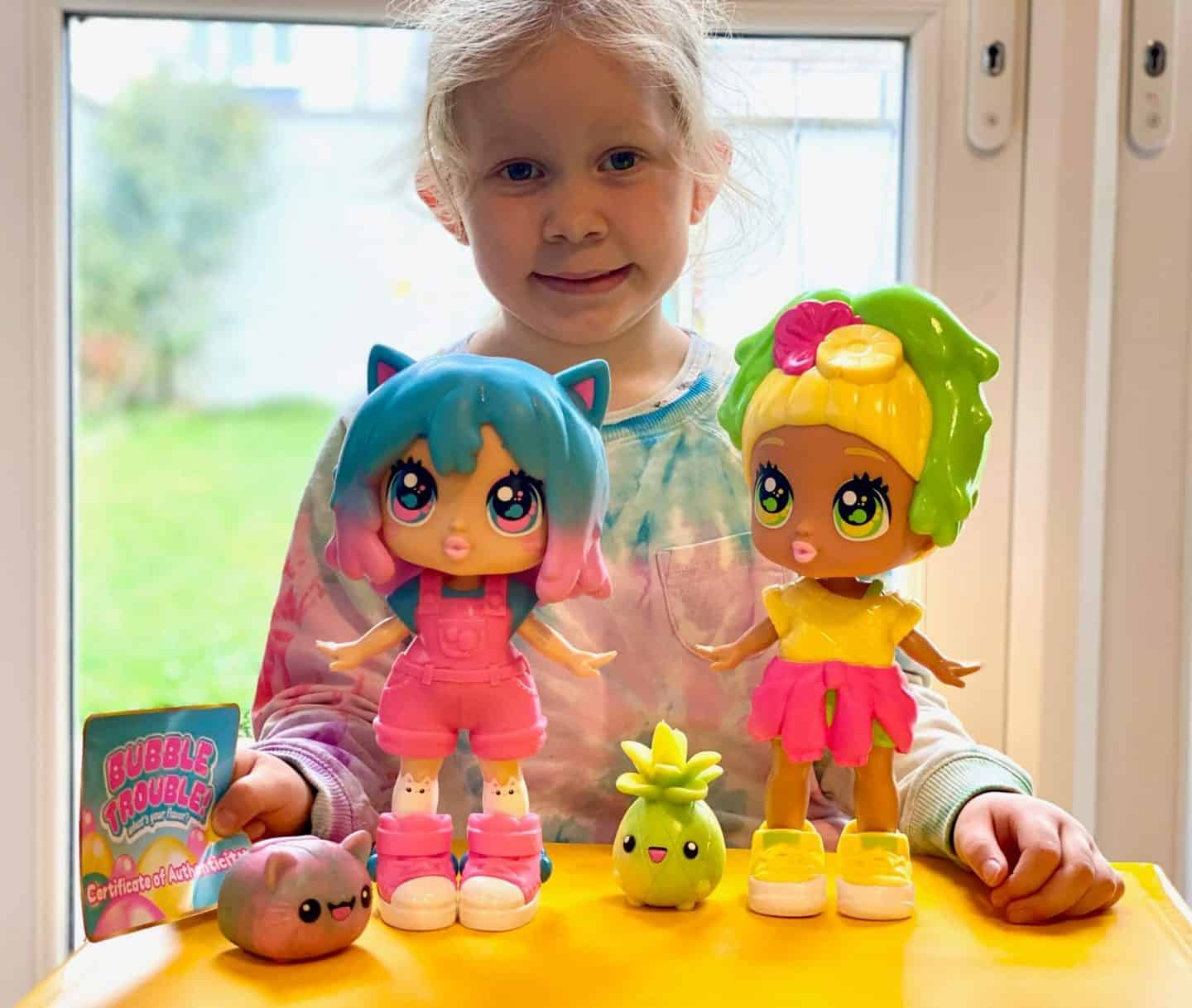 Bubble Trouble dolls with a certificate of authenticity