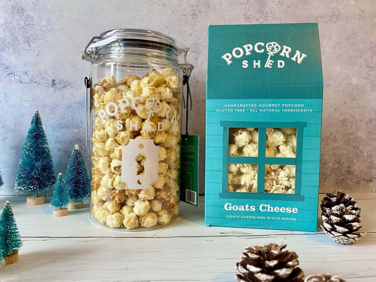 Butterly Nuts popcorn gift jar