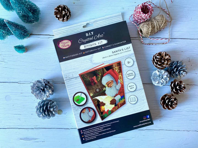 DIY Crystal Art Notebook Kit - Santa's List