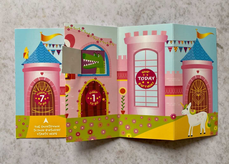 Fairy Castle Countdown Cards