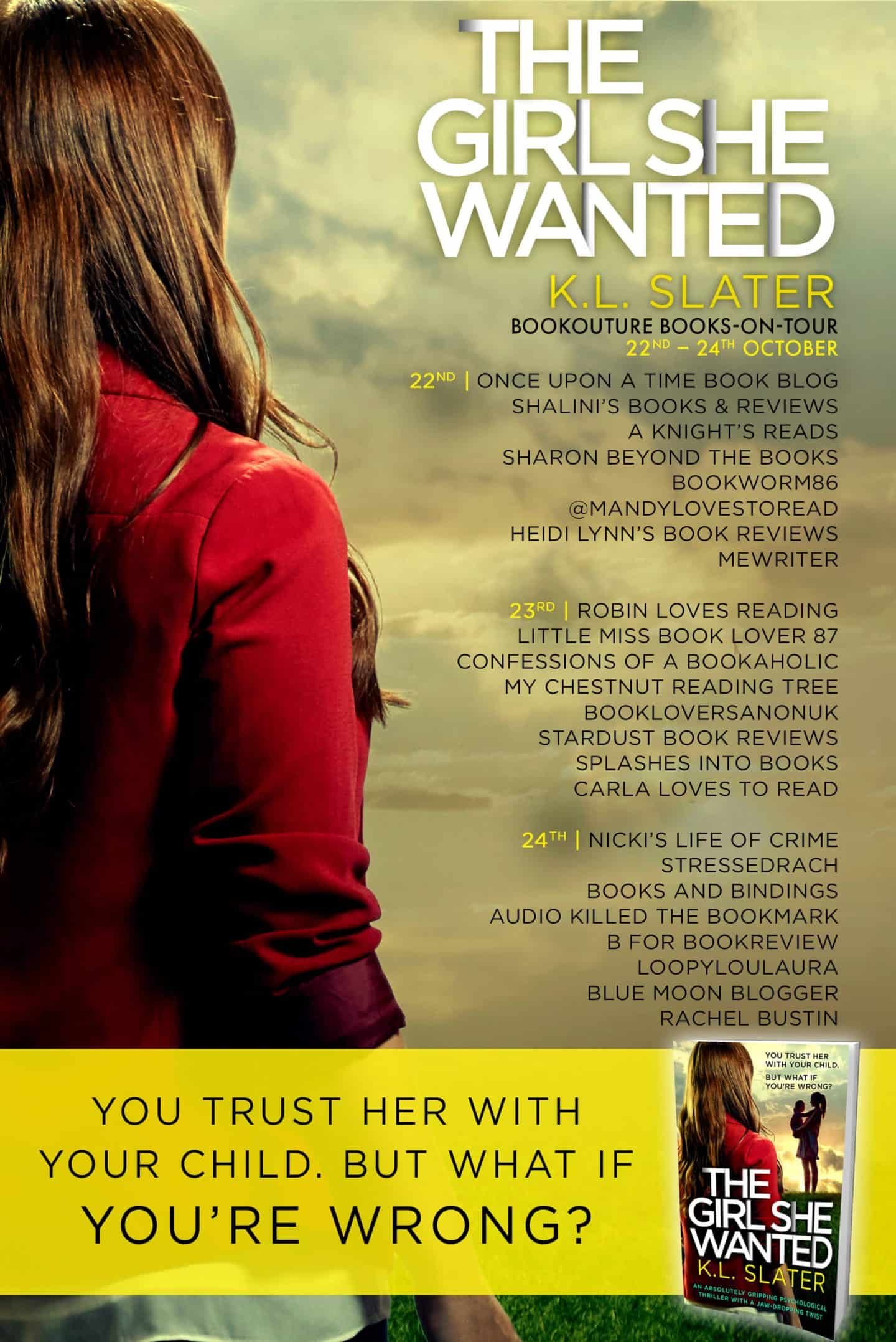 The Girl She Wanted by KL Slater blog tour