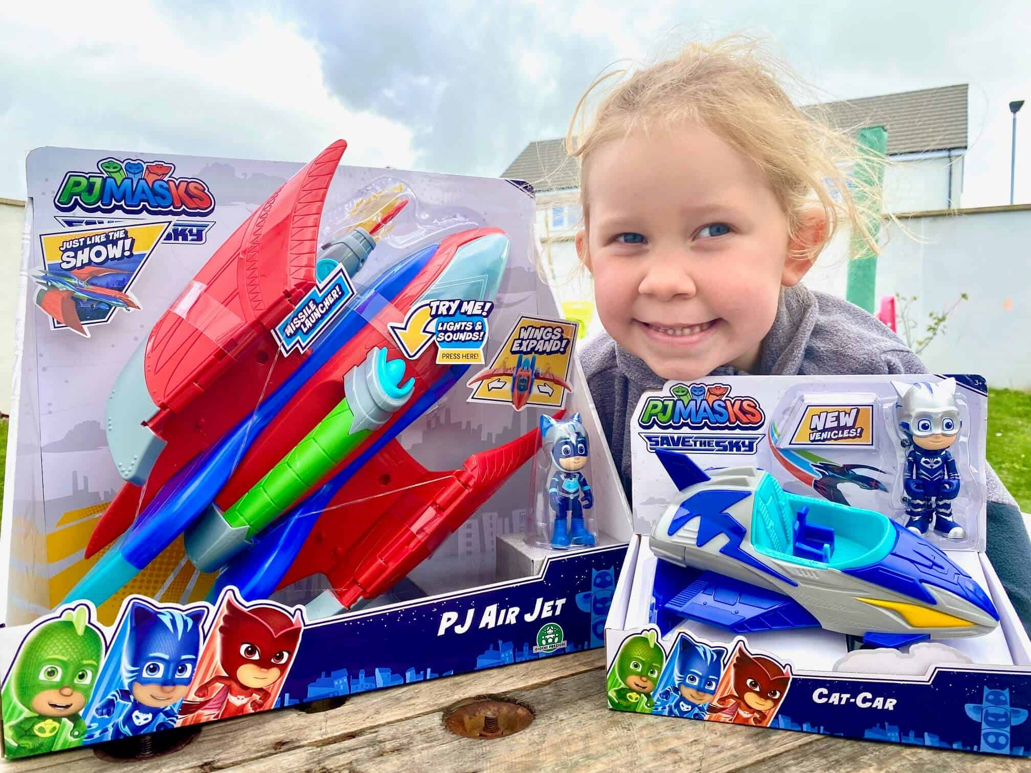 PJ Masks Air Jet and Save the Sky Flying Hero Vehicle and Figure Set Review